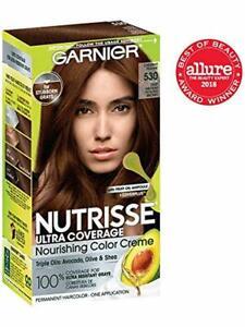 Garnier Nutrisse Ultra Coverage Hair Color, Deep Medium Golden Brown (Chestnut P