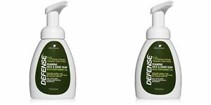 DEFENSE Soap | PEPPERMINT | 2 PACK |  Foaming Face & Hand Soap 7.5 Oz w Tea Tree