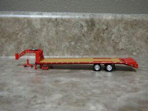 Ertl 1/64 Greenlight Red 5th Wheel Flatbed Gooseneck Trailer Farm Toy