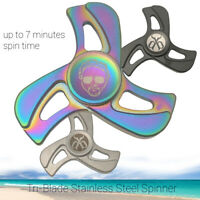 Fidget Spinner Toy | Tri-Blade Stainless Steel Hand Spinner | AUTHENTIC