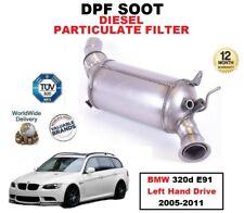 DPF Diesel Filtro de partículas de hollín para BMW 320d E91 unidad de mano izquierda 2005-2011