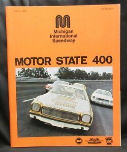 Motor State 400 Race Program - Michigan International Speedway NASCAR 6-16-1974