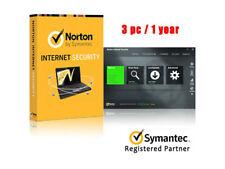 Norton Internet Security Symantec 3PC 1Year License Code Key win 10 ready