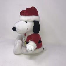 "HALLMARK Peanuts SNOOPY Santa Claus 15"" Plush Stuffed Animal Christmas*"