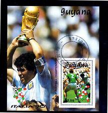 GUYANA #2223  1989  SOCCER  GREEN SHIRT   MINT  VF NH  O.G  S/S  CTO