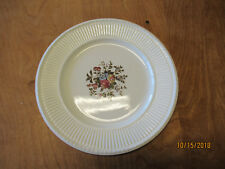"Wedgwood England Edme CONWAY Set of 3 Dinner Plates 10 1/2"" Floral Ctr"