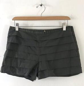 J CREW Women's Size 4 Dark Gray Ruffled Short Shorts Cotton Blend Summer