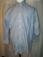MEN'S BROOKS BROTHERS BUTTON BLUE STRIPED LONG SLEEVED SHIRT XL 17 - 33 TRAD