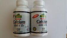 Calcium 600 Mg with Vitamina D3 100 tab each 2 Fcos Vita Celulas ALFA Control