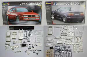 Two (2) 1/24 Scale Revell VW Corrado Model Kits, Opened, As Is