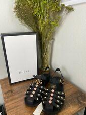 Gucci Women's Rubber Sandals with Crystals Size 41