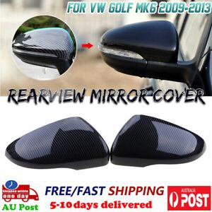 Carbon Fiber Side Wing Mirror Cover Caps for VW Golf GTI MK6 GTI R VI 2009-2013