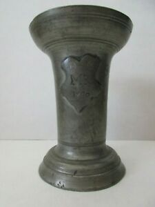 18th Century Pewter Chalice Ceremonial Cup Touch Mark Organizational Marks 1760