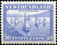 Mint NH Canada Newfoundland 1932-37 30c VF Scott #198 Stamp