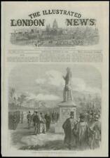 1868 antica stampa Yorkshire Hull Statua in ritardo Principe consorte (148)