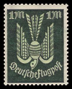 """Germany Deutsches Reich 1922 Mi. Nr. 215 1M """"Holztaube"""" Air Mail Issue MNH"""