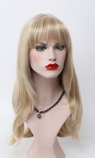 Vogue Blonde Mixed Long Straight bangs Women Natural Daily Life hair Wig