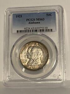 1921 50C Alabama Commemorative Silver Half Dollar PCGS MS63