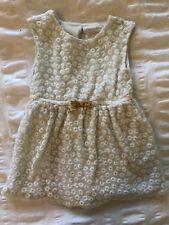 Cherokee Toddler Girls Cream/Gold Lace Sleeveless Dress Size 2T