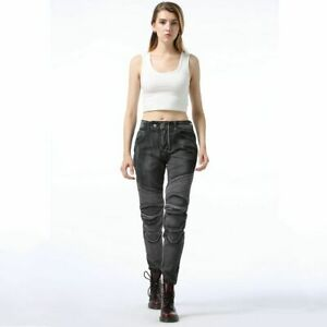 Motorcycle Pants Women Jeans Protective Gear Riding Touring Motorbike Trousers