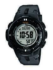 Casio Men's PRW3000-1 Pro Trek Triple Sensor Solar Atomic Resin Strap Watch