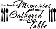 The Fondest Memories Are Made Wall Sticker Vinyl Decal Stickers Kitchen Quotes