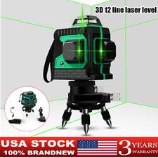 3d 12 Lines Laser Levels Self Leveling 360 Horizontal Amp Vertical Cross Measure