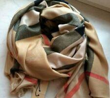 Burberry pañuelo bufanda beige 100% cachemir