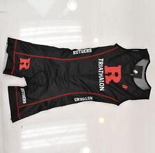 Rutgers Triathlon Women's Small Hincapie Sleeveless Tri Suit Black/Red MISPRINT