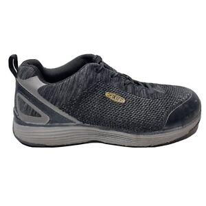 Keen Utility Steel Toe Shoes Mens Size 12 Black Gray Sneakers ASTM F2413-18 Lace