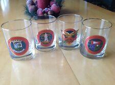4 Vintage Golf Course Rock Glass St. Andrews Turnberry Glen Eagles Muirfield