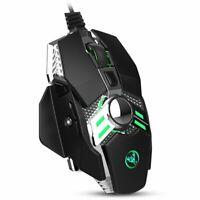 Ergonomic Wired USB Gaming Mouse Adjustable DPI RGB Backlit 7 Programmable Keys