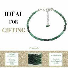 Emerald Sterling Silver Bracelet Fine Bangle Jewellery Women Anniversary Gift