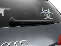 Biohazard Car Sticker Styling Window Decal, Chrome
