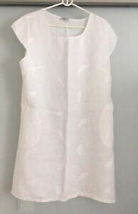 PURO LINO - Sommer Kleid - Leinen - aus Italien - weiß - NEU
