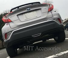 TOYOTA C-HR 2017-on Tail rear bumper reflector cover chrome trim rim