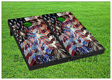 VINYL WRAPS Cornhole Boards DECALS New York USA BagToss Game Stickers 399