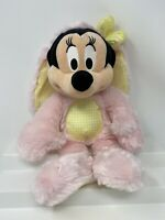 Original Disney Store Minnie Mouse Plush Doll Pink Easter Chick Costume Tag