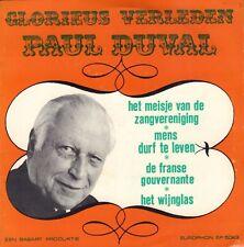 "PAUL DUVAL - Glorieus Verleden (1968 VINYL EP 7"" HOLLAND)"