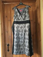 Monsoon Silver & Black Ladies Cocktail Dress