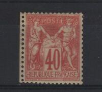 "FRANCE STAMP TIMBRE YVERT N° 70 "" SAGE 40c ROUGE-ORANGE TYPE I "" NEUF x TTB T878"