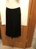 Chico's Travelers Black Skirt Size 2 Acetate Spandex