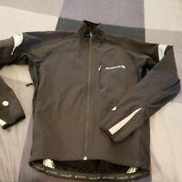 Endura Womens Cycling Jacket Coat Wind Resistant Size Medium Black Zip Pockets