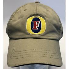 Fosters Australian Beer Beige Baseball Hat Adjustable Strap Yellow Blue Red Logo