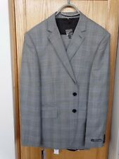 NWT Men's Express Gray Grey Suit 2 Button Fitted Photographer 40S Pants 28x32
