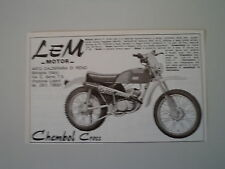 advertising Pubblicità 1976 MOTO LEM 50 CHEMBOL CROSS