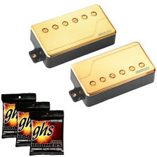 Fishman Fluence Classic Humbucker Set (Gold) with GHS Strings