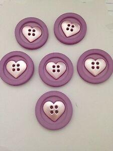 DRESS IT UP CHILDREN's Knitting  Sew Fun love  Heart Round Buttons CAKE DECO(10)