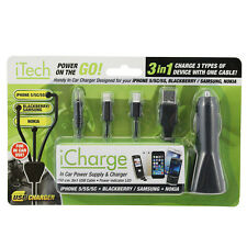 In Car Charger For iPhone 5/5S/5C Blackberry Sumsumg Nokia USB Socket Cigarette