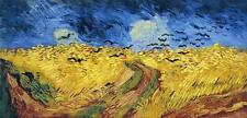 WHEAT FIELD WITH CROWS 1890 Vincent Van Gogh Giclee CANVAS PRINT 30x17 in.